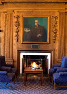 johnson room fireplace portrait